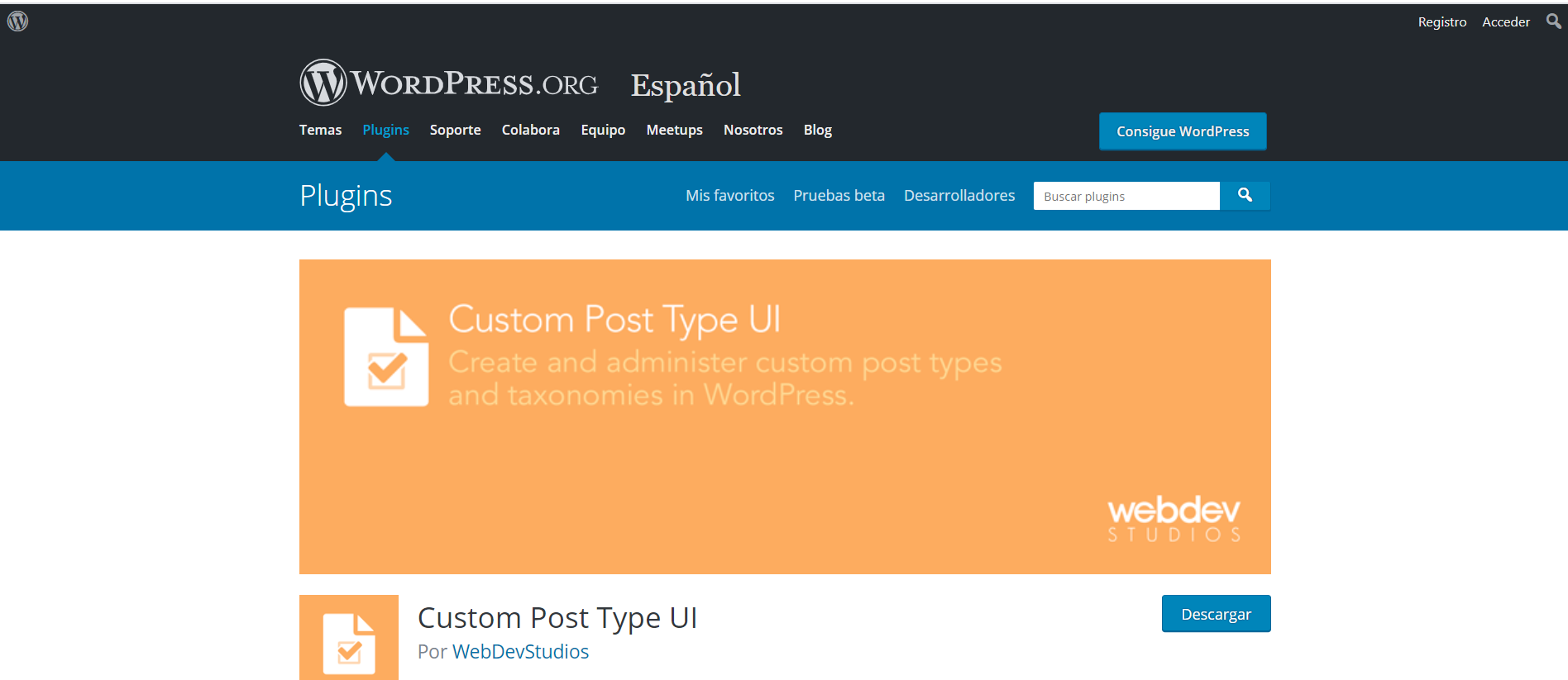 Custom Post Type UI Por WebDevStudios