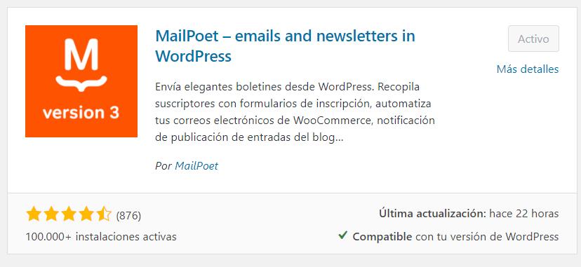 Plugin MailPoet