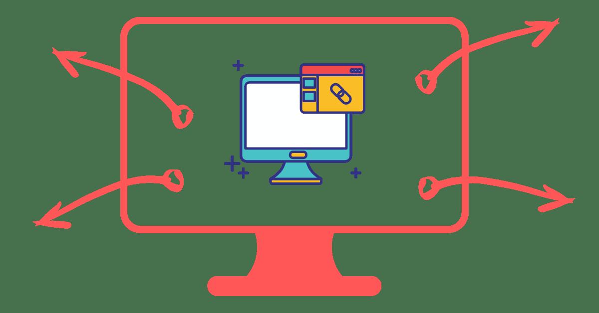 Enlaces internos y externos en una página web